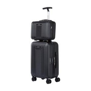 Set černého kosmetického kufříku a kufru na kolečkách Murano Spider