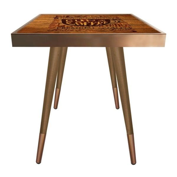 Príručný stolík Caresso Cup Of Coffee Square, 45 × 45 cm