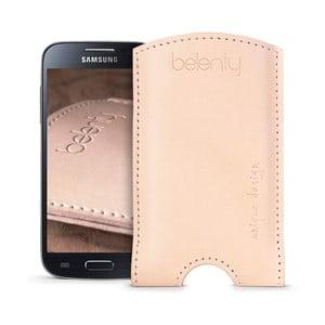 Kožený obal na Samsung Galaxy S4 mini Cream