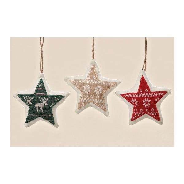 Sada 3ks závěsných dekorací Trio Star