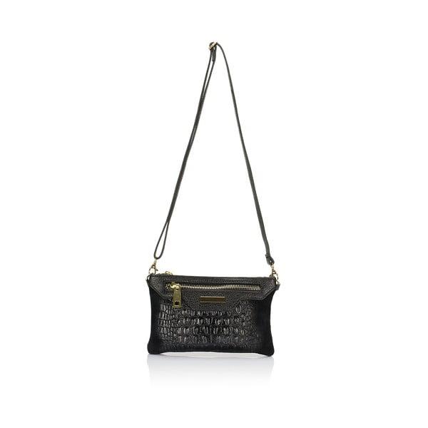 Černá kožená kabelka Lisa Minardi Veronica
