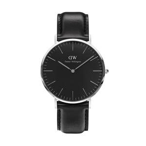 Černé unisex hodinky DanielWellingtonSheffieldSilver, ⌀40mm