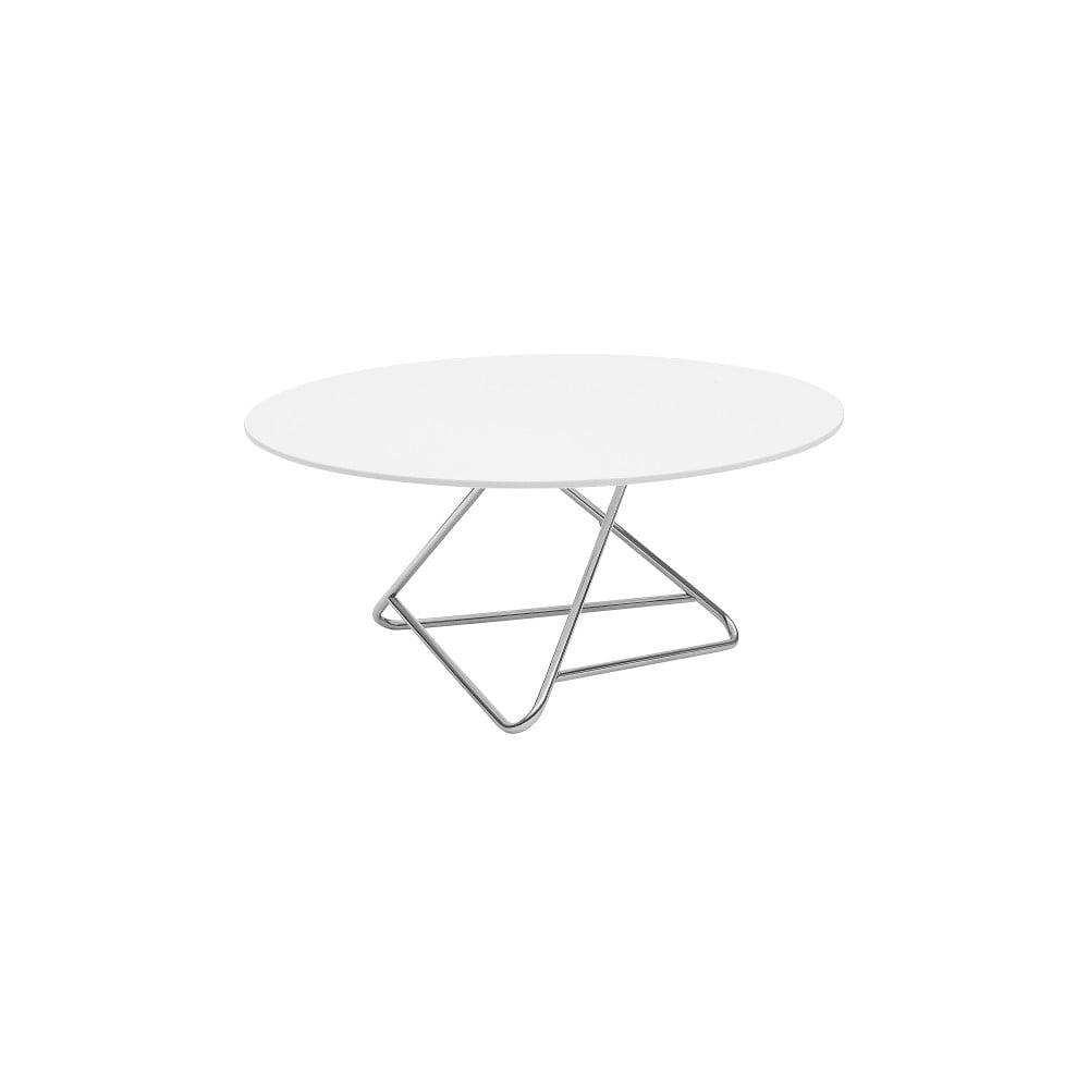 Stůl s bílou deskou Softline Tribeca, Ø 90 cm