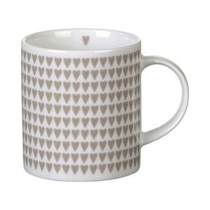 Šedý porcelánový hrnek Parlane Hearts, 8,5cm
