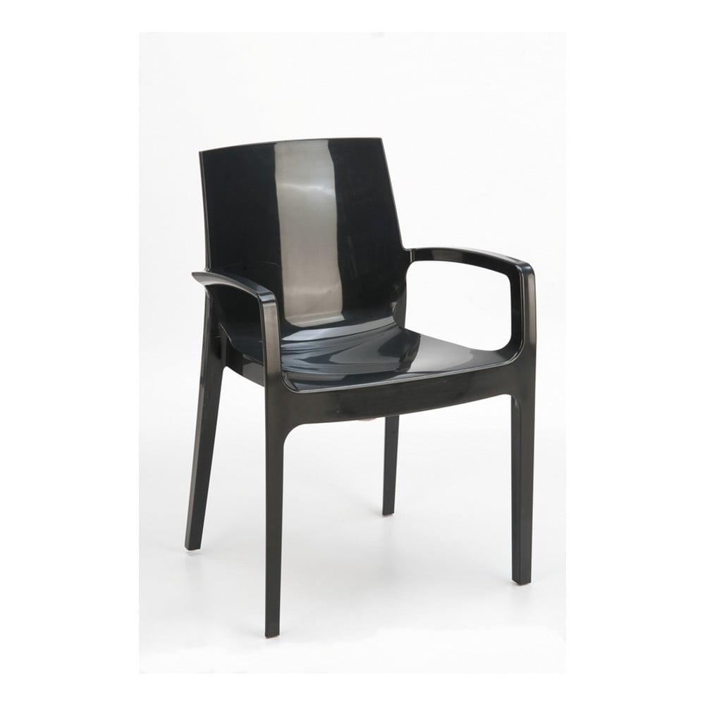 Sada 2 černých jídelních židlí Castagnetti Cream