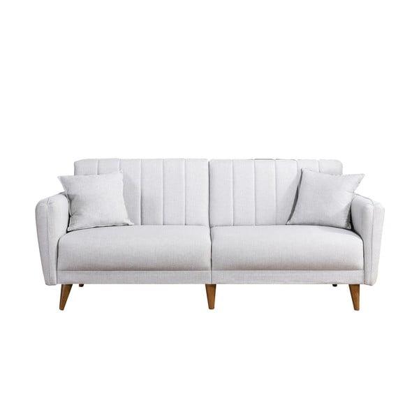Canapea cu 3 locuri Julitta, alb