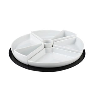Porcelánová sada 7 misek s táckem Girat