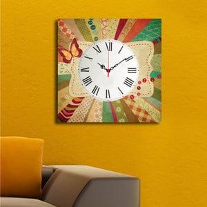 Obrazové hodiny Barevný motýl