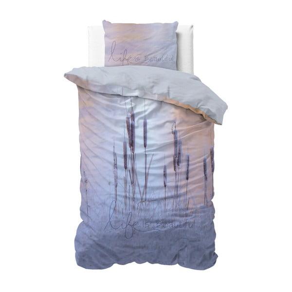 Bawełniana pościel jednoosobowa Sleeptime Beautiful, 140x220 cm