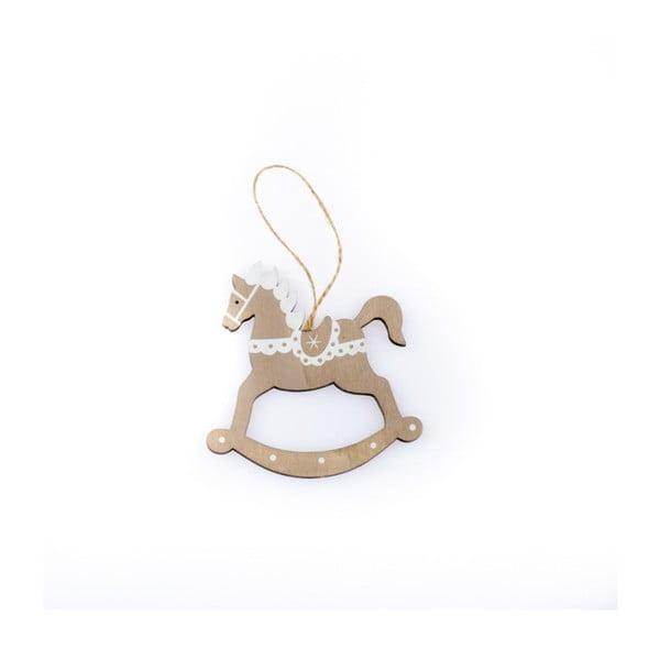 Dřevěný závěsný houpací koník Dakls Fancy, výška 11 cm