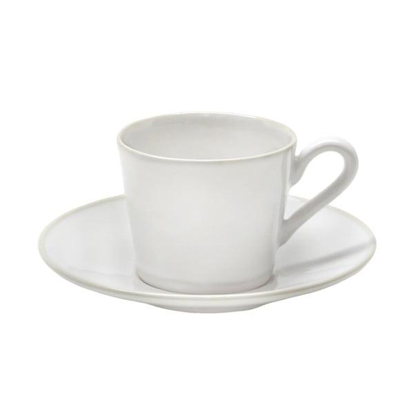 Cană din ceramică cu farfurioară Costa Nova Astoria, 180 ml, alb