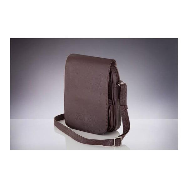 Pánská kožená taška Solier SL32, hnědá