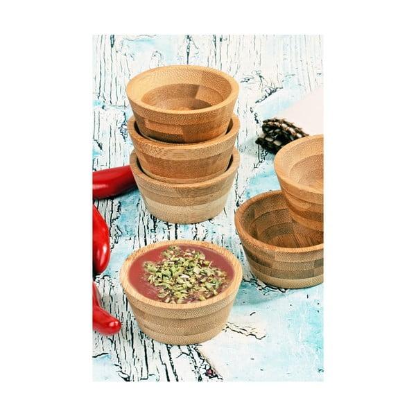 Sada 6 bambusových mističek na omáčky Kosova, Ø6,5cm