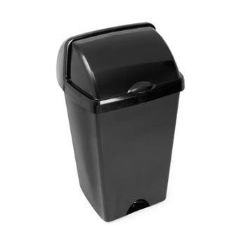 Coș de gunoi cu capac detașabil Addis, 38 x 34 x 68 cm, negru imagine