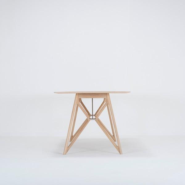 Jídelní stůl z masivního dubového dřeva s černou deskou Gazzda Tink, 200x90cm