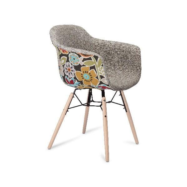 Béžová jídelní židle s nohami z bukového dřeva Furnhouse Flame