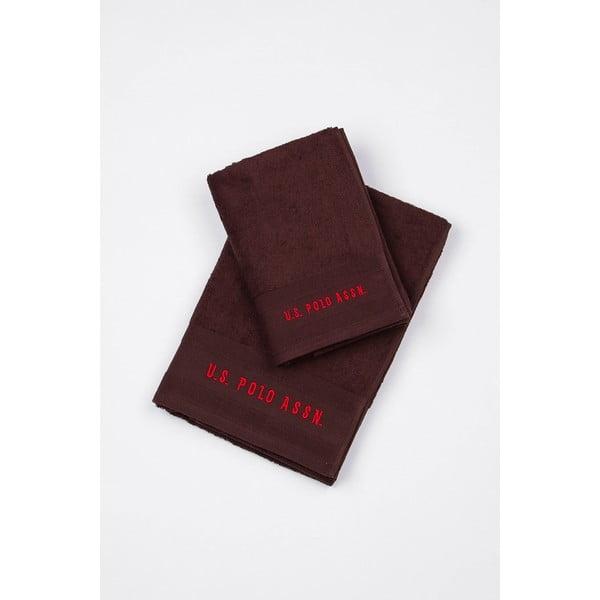 Sada 2 ručníků U.S. Polo Assn. Bordeaux, 50x100 cm a 70x140 cm