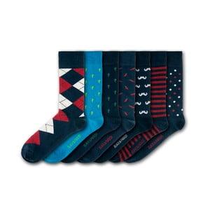 Sada 7 ponožek Black&Parker London Weymouth Peace Garden, velikost 37 – 43