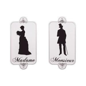 Sada 2 cedulí na toaletu Antic Line Madame Monsieur