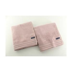 Sada 2 osušek U.S. Polo Assn. Los Angeles Pink, 50x100 cm
