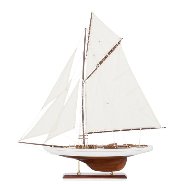Objekt plachetnice Sail Boat White, 69 cm