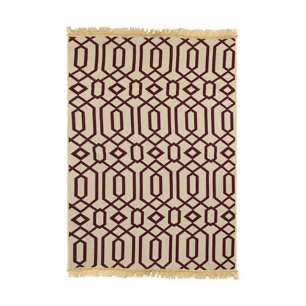 Červeno-béžový koberec Ya Rugs Kenar, 60x90cm