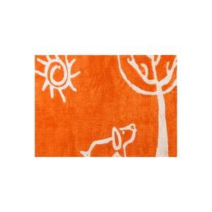 Koberec Verano 160x120 cm, oranžový