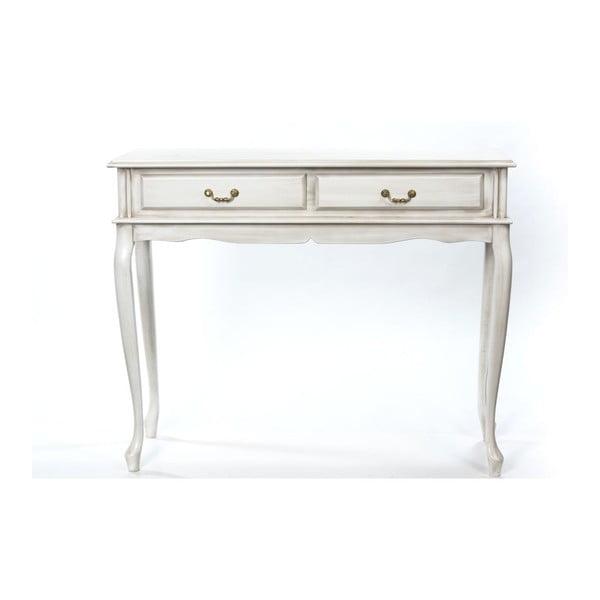 Konzolový stolek Bergman Cream, 100x42x82 cm