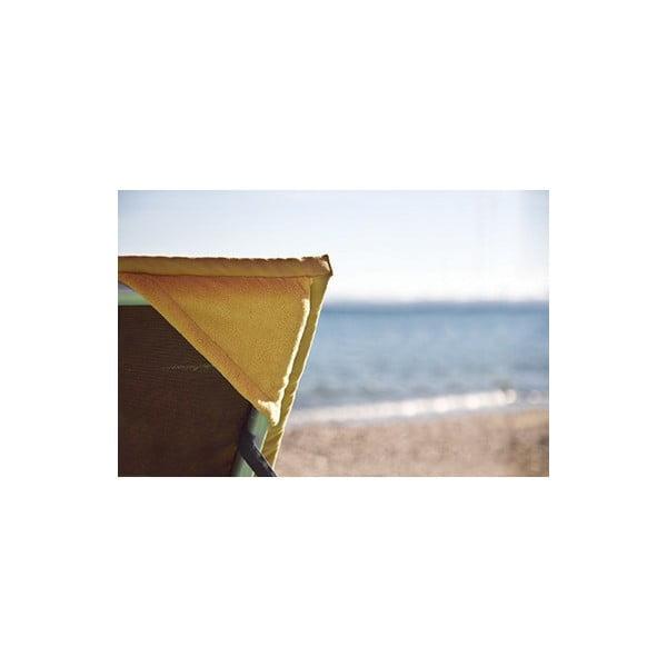 Žlutá plážová osuška s rohovými kapsami Terra Nation Kami Moe,90x180cm
