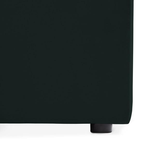 Tmavě zelený pravý rohový modul pohovky Vivonita Velvet Cube