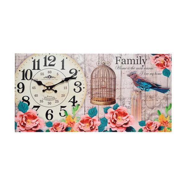 Nástěnné hodiny Family, 60x30 cm