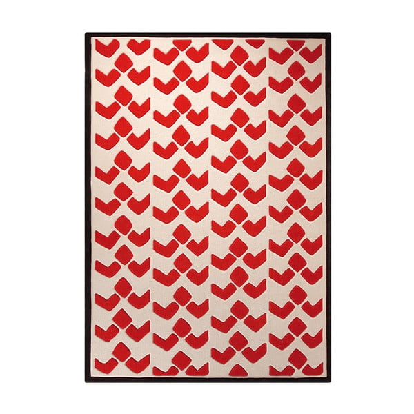 Koberec Bauhaus Red 70x140 cm