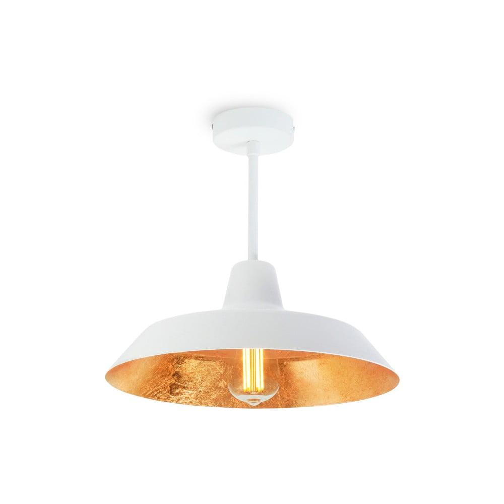 Fotografie Stropní svítidlo v bílé a zlaté barvě Bulb Attack Cinco Basic