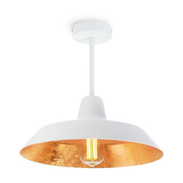 Stropní svítidlo v bílé a zlaté barvě Bulb Attack Cinco Basic