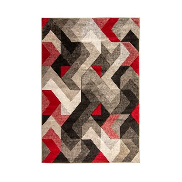 Covor Flair Rugs Aurora Grey Red, 160 x 230 cm