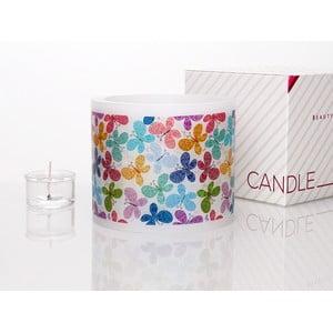 Kruhový svícen na čajovou svíčku Colourful Butterfly