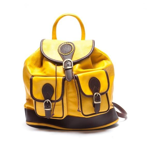 Kožený batoh Mangotti 2038, žlutý