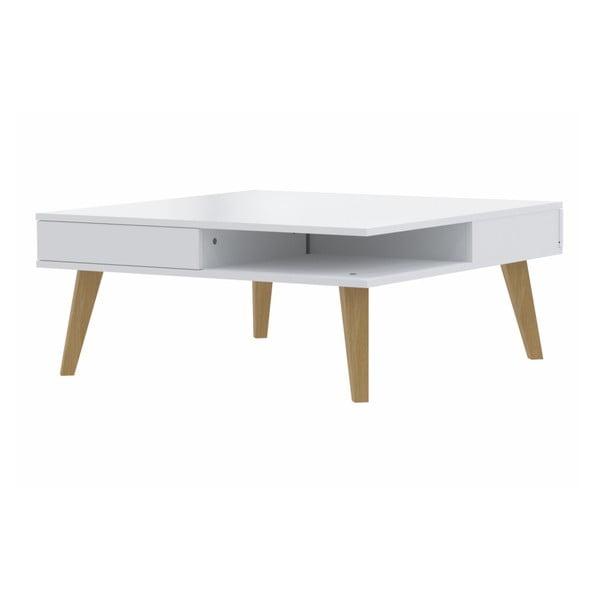 Bílý konferenční stolek Symbiosis Clara
