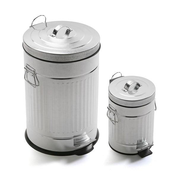 Sada 2 odpadkových košů Bano Cubos, 20 l + 3 l