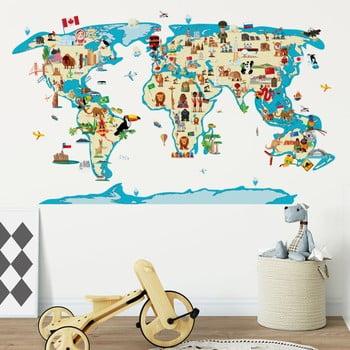 Autocolant de perete Ambiance World Map Ethnic Tour de la Ambiance