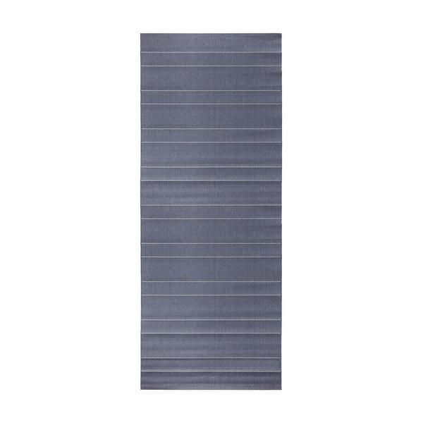 Modrý behúň vhodný aj do exteriéru Hanse Home Sunshine, 80 × 200 cm