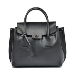 Černá kožená kabelka Luisa Vannini Liona