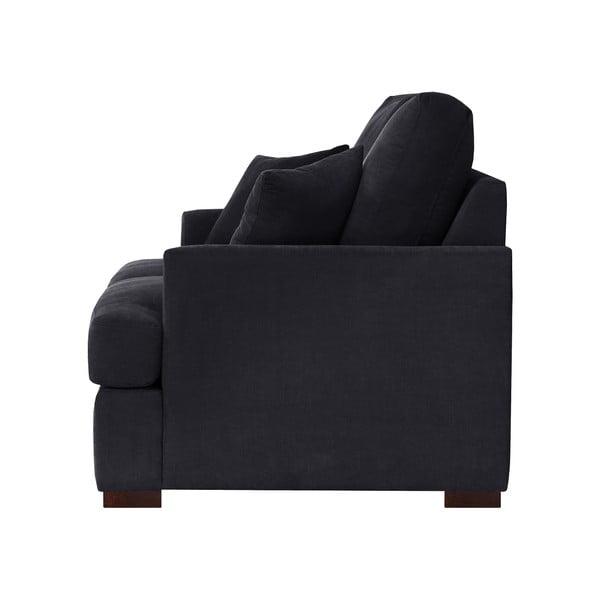 Třímístná pohovka Jalouse Maison Irina, černá