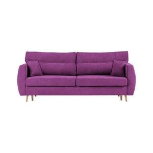 Canapea extensibilă cu 3 locuri și spațiu pentru depozitare Cosmopolitan design Sydney, 231x98x95cm, mov