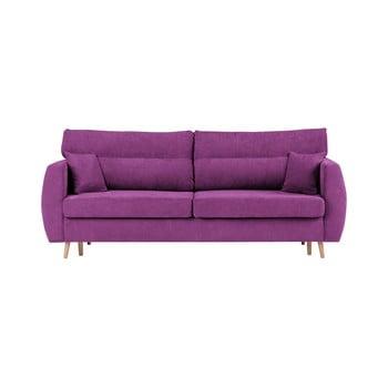 Canapea extensibilă cu 3 locuri și spațiu pentru depozitare Cosmopolitan design Sydney 231x98x95cm mov