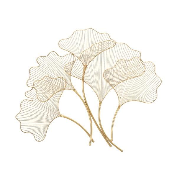 Dekoracja ścienna w złotym kolorze Mauro Ferretti Glam Leaf, 79x68 cm