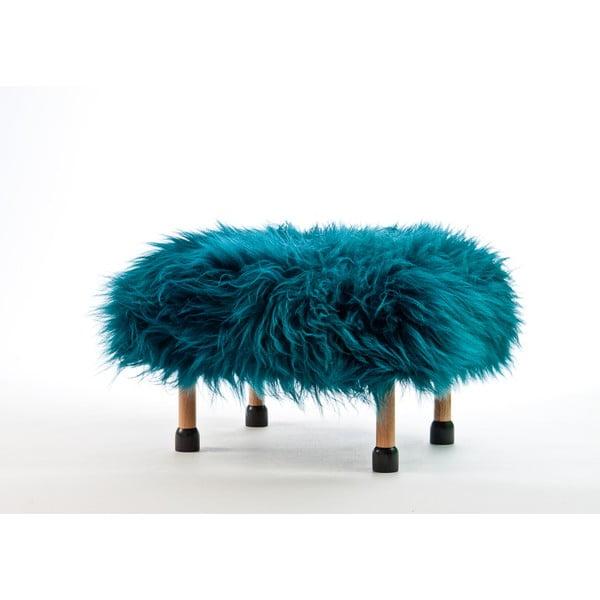 Stolička z ovčí kůže Nia  Teal