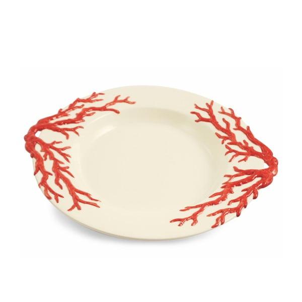 Kulatý talíř Corallo Rosso, 34 cm