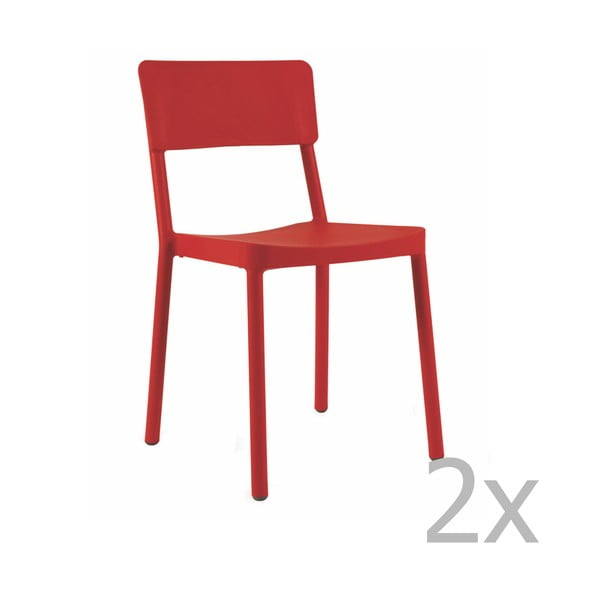 Lisboa piros kerti szék, 2 darab - Resol