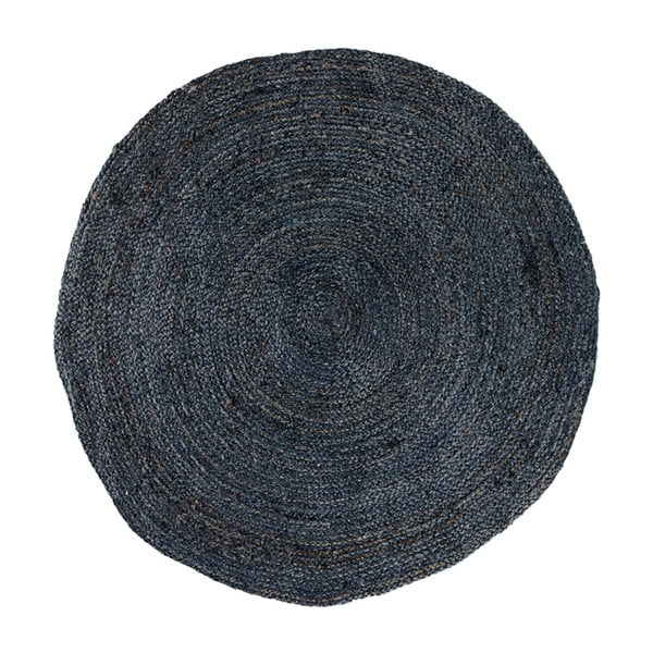 Tmavě šedý kulatý koberec House Nordic Bombay, ø90cm
